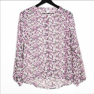 Ariat   Multi Print Long Sleeve Lily Top XS